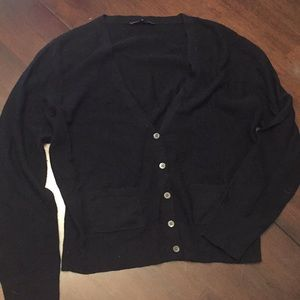 Eileen Fisher XS black cardigan sweater